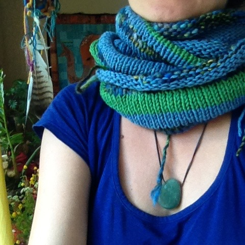 handmade schal loop recycling wolle