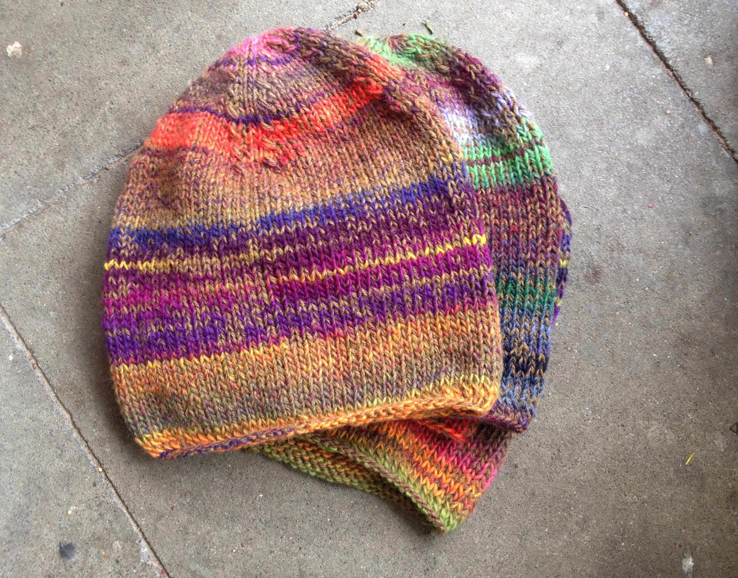 Natur Herbst Winter Schurwolle Mütze Fair Öko Wollmütze Rainbow Multicolor Hippie Gipsy
