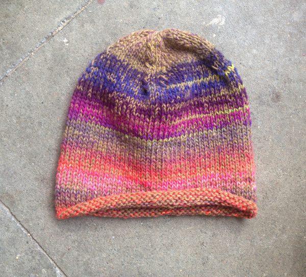 Natur Herbst Winter Schurwolle Mütze Fair Öko Wollmütze Rainbow Multicolor Hippie Gipsy_1