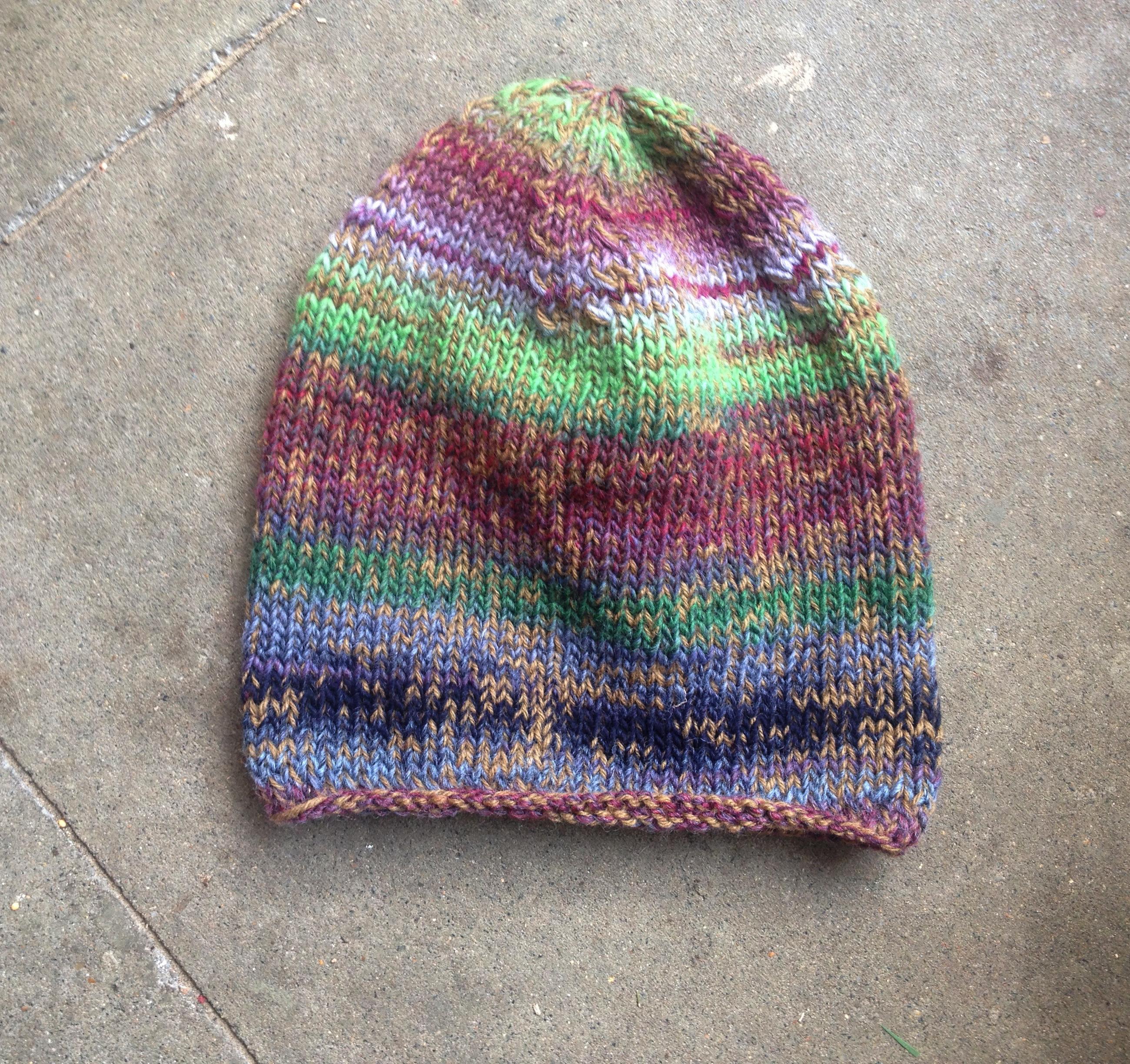 Natur Herbst Winter Schurwolle Mütze Fair Öko Wollmütze Rainbow Multicolor Hippie Gipsy_2